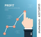 profit concept  growing... | Shutterstock .eps vector #620718935