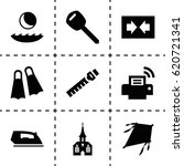 simple icon. set of 9 simple...
