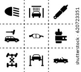 automobile icon. set of 9... | Shutterstock .eps vector #620723351
