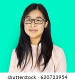young adult asian girl smiling... | Shutterstock . vector #620723954