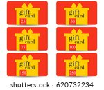 gift card with a gift box. set...   Shutterstock .eps vector #620732234