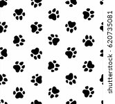 pattern foot animal dog foot... | Shutterstock . vector #620735081