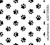 pattern foot animal dog foot... | Shutterstock . vector #620735081