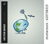 little earth series satellite... | Shutterstock .eps vector #620738315