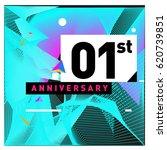 1 years anniversary celebration ... | Shutterstock .eps vector #620739851