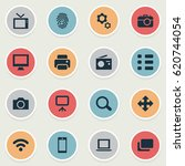 vector illustration set of... | Shutterstock .eps vector #620744054
