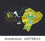 cartoon map of ecuador and... | Shutterstock .eps vector #620758511