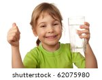 small child drink water from... | Shutterstock . vector #62075980