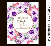 romantic invitation. wedding ... | Shutterstock . vector #620762639