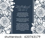 invitation with floral... | Shutterstock .eps vector #620763179