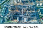 aerial view oil refinery ... | Shutterstock . vector #620769521