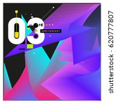 3 years anniversary celebration ... | Shutterstock .eps vector #620777807