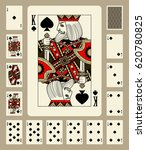 playing cards of spades suit in ... | Shutterstock . vector #620780825