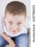 happy child looks. portrait of... | Shutterstock . vector #620788601