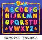 children's font in the cartoon... | Shutterstock .eps vector #620788661