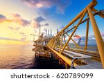 offshore oil  platform in... | Shutterstock . vector #620789099