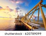 offshore oil  platform in... | Shutterstock . vector #620789099