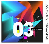 3 years anniversary celebration ... | Shutterstock .eps vector #620789729
