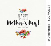 greeting card happy mother's... | Shutterstock . vector #620793137