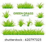 vector tufts of grass isolated... | Shutterstock .eps vector #620797325