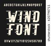 wind alphabet vector font.... | Shutterstock .eps vector #620798711
