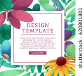 banner design template with... | Shutterstock .eps vector #620801801