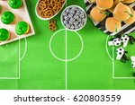 table with snacks for football... | Shutterstock . vector #620803559