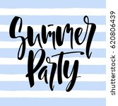 summer party lettering | Shutterstock .eps vector #620806439
