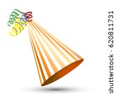 party hat isolated on a white.... | Shutterstock .eps vector #620811731