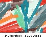 marker brush colorful stokes... | Shutterstock .eps vector #620814551