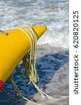 nose yellow inflatable boat on... | Shutterstock . vector #620820125