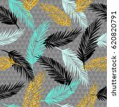 seamless exotic pattern with... | Shutterstock .eps vector #620820791