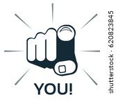 finger pointing at you   vector | Shutterstock .eps vector #620823845