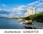 lichun river in sunny day.... | Shutterstock . vector #620824715