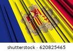 fragment flag of andorra. 3d... | Shutterstock . vector #620825465