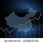 chinese economy and market... | Shutterstock .eps vector #620825765