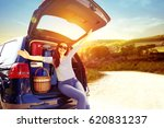 summer time and car trip  | Shutterstock . vector #620831237