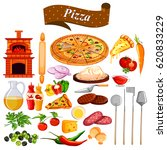 illustration of food and spice... | Shutterstock .eps vector #620833229