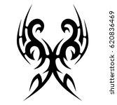 tribal tattoo art designs.... | Shutterstock .eps vector #620836469