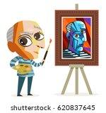cute cubism painter cubist