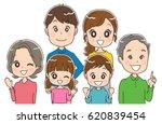 three generations family | Shutterstock .eps vector #620839454