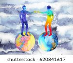 human and universe power ... | Shutterstock . vector #620841617