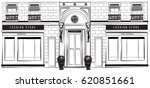 vector horizontal shopfront... | Shutterstock .eps vector #620851661
