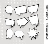 comic speech set balloon on... | Shutterstock . vector #620852381