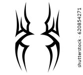 tattoo sketch tribal vector... | Shutterstock .eps vector #620854271