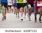 runners in a marathon | Shutterstock . vector #62087131