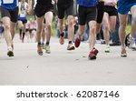 runners in a marathon | Shutterstock . vector #62087146