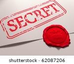 illustration of a secret... | Shutterstock . vector #62087206