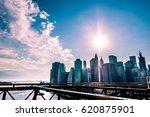 manhattan island  new york city ... | Shutterstock . vector #620875901