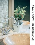 bathroom interior with sink and ...   Shutterstock . vector #620877959